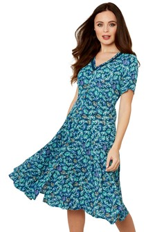 Joe Browns Delicious Palm Print Dress