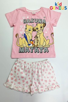 Kids Genius Hakuna Matata Lion King Pyjama Shorts Set
