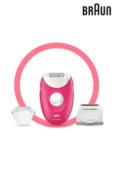 Braun Silk-Epil 3 Rasberry Epilator 2-in-1