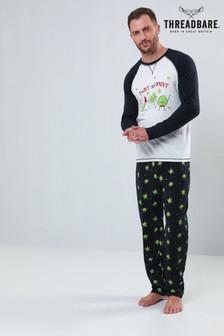 Threadbare Christmas Raglan Printed Jersey Pyjama Set