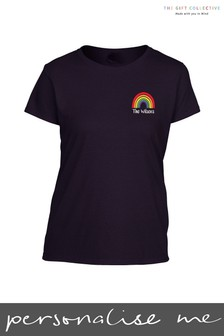 Personalised Rainbow Adults T-Shirt by Gift Collective