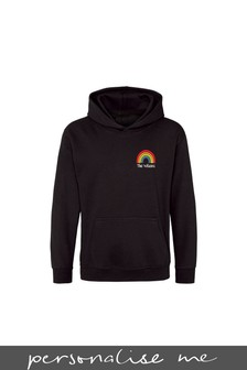 Personalised Rainbow Kids Hoodie by Gift Collective