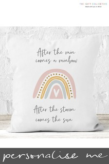 Personalised After the Rainbow Cushion by Gift Collective