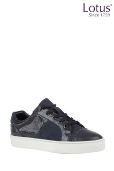 Lotus Footwear Printed Lace-Up Casual Trainers