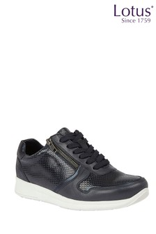 Lotus Footwear Leather Lace-Up Casual Trainers