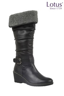 Lotus Footwear Leather Knee High Boots