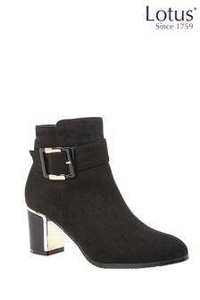 Lotus Footwear Microfibre Ankle Boots