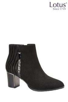 Lotus Footwear Block Heel Ankle Boots