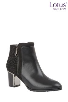Lotus Footwear Printed Ankle Boots