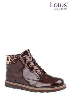 Lotus Lace-Up Ankle Boots