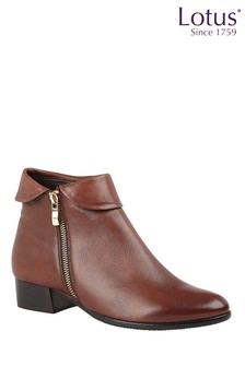 Lotus Footwear Printed Leather Ankle Boots