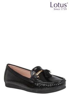 Lotus Footwear Crinkle Patent Loafers