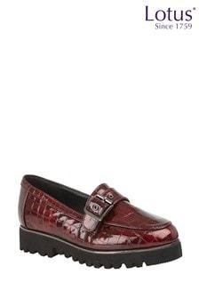 Lotus Footwear Patent Loafers