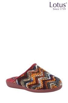 Lotus Footwear Bordo Mule Slippers