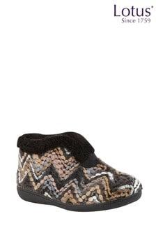 Lotus Footwear Bordo Bootie Slippers