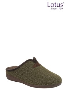 Lotus Footwear Footwear Herringbone Textile Slippers