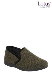 Lotus Footwear Herringbone Textile Slippers