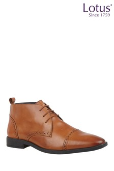 Lotus Footwear Leather Lace-Up Boots