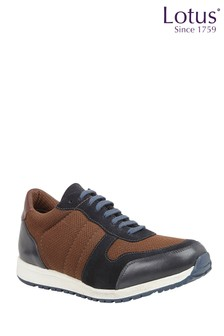 Lotus Footwear Leather Casual Lace-Up Trainers