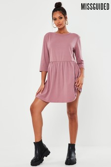 Missguided Basic Jersey Smock Dress