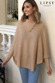 Lipsy Button Detail Poncho