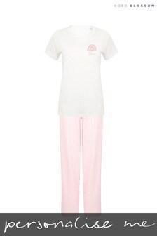 Personalised Rainbow Ladies Pyjamas by Koko Blossom