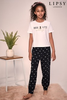 Lipsy Girl Short Sleeve Long Leg Pyjama Set