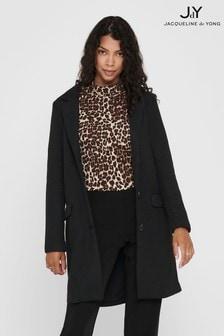 JDY Textured Crombie Coat