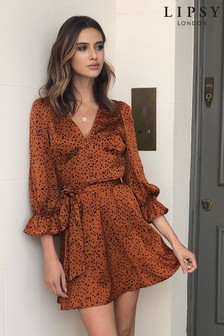 Lipsy Long Sleeve Tea Dress