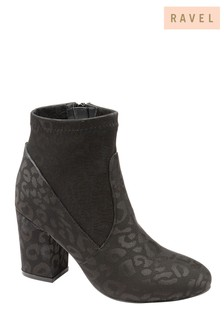Ravel Leopard Print Ankle Boots