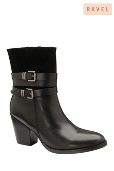 Ravel Leather Mid-Calf Ankle Boots