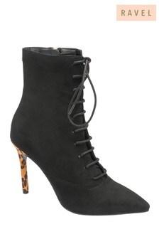 Ravel Leopard Print Stiletto Heel Boots