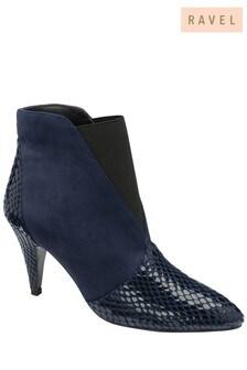 Ravel Snake Print Stiletto Heel Boots
