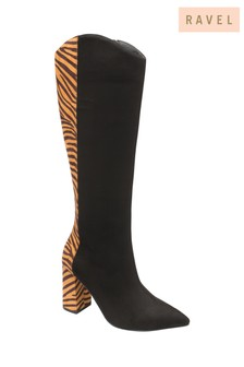 Ravel Zebra Knee High Boots