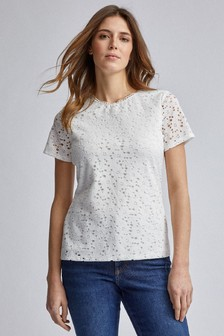 Dorothy Perkins Lace Fitted Tee