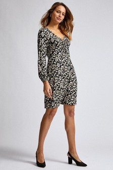 Dorothy Perkins Ditsy Ruched Detail Dress