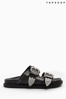 Topshop Peru Buckle Footbed Sandals