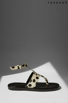 Topshop Post Animal Sandals