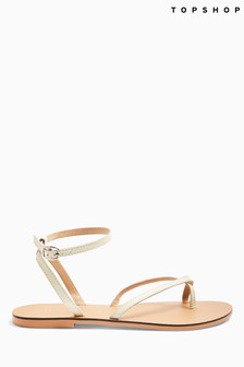 Topshop Panda Leather Sandals