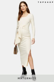 Topshop Maternity Square Neck Tie Dress