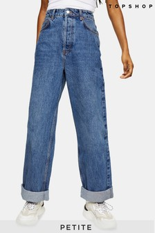 "Topshop Petite Oversized Mom Jeans 28"" Leg"