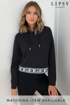 Lipsy Branded Cropped Hoody