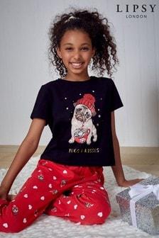 Lipsy Girl Christmas Pyjama Set