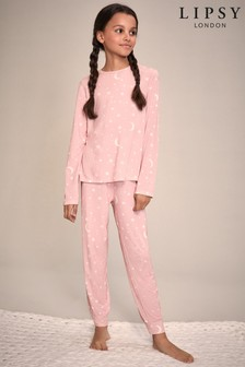 Lipsy Girl Long Sleeve Long Leg Pyjama Set