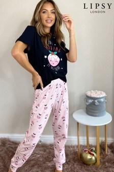Lipsy Christmas Pyjama Set