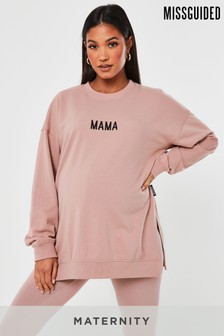 Missguided Maternity Mama Sweat Top
