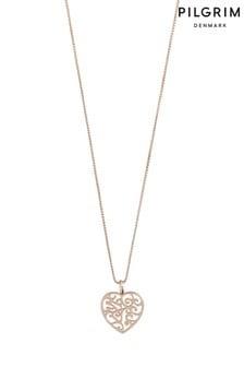 PILGRIM Felice Plated Heart Necklace