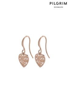 Pilgrim Felice Plated Heart Earrings