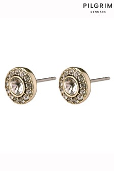 PILGRIM Clementine Plated Stud Earrings