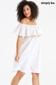 Simply Be Wide Fit Bow Slip On Dress